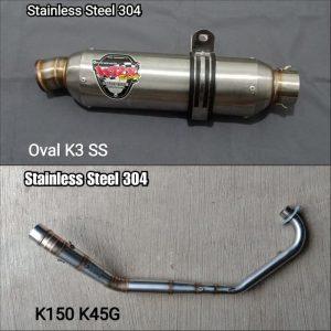Oval K3 SS K150 K45G 2